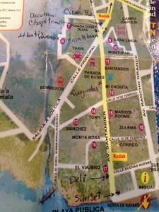 Panajachel Nightlife Map and Restaurants