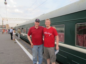 Father and Son on Trans-Siberian Railway