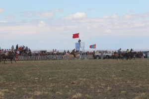 Horse Racing at Local Naadam