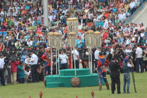 Opening Ceremony at Naadam Festival