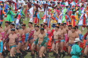 Wrestling at Naadam